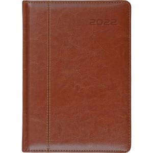 NEVRO * A4 dzienny z registrem BRĄZOWY kalendarz książkowy