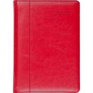 NEVRO * A4 dzienny z registrem CZERWONY kalendarz książkowy
