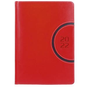 COMBO * A4 dzienny z registrem CZERWONY / CZARNY kalendarz książkowy