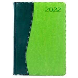 COMBO * A4 dzienny z registrem ZIELONY / JASNOZIELONY kalendarz książkowy