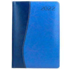 COMBO * A4 dzienny z registrem GRANATOWY / NIEBIESKI kalendarz książkowy