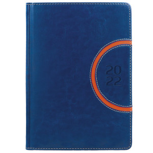 COMBO * A4 tygodniowy z registrem GRANATOWY / POMARAŃCZOWY kalendarz książkowy