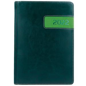 COMBO * A4 tygodniowy z registrem ZIELONY / JASNOZIELONY kalendarz książkowy