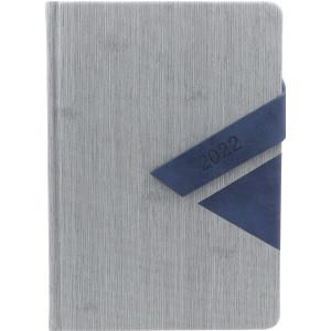 MAGNETO * A5 dzienny z registrem SZARY / GRANATOWY kalendarz książkowy