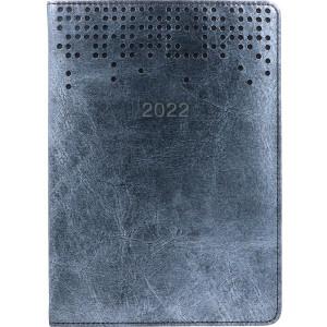 TIERRA * A5 dzienny z registrem SREBRNY kalendarz książkowy