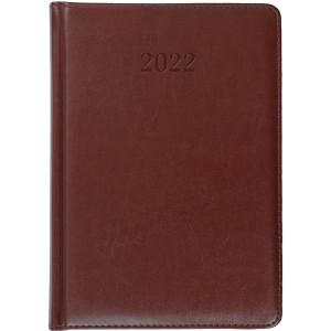ELITE * A4 dzienny z registrem BRĄZOWY kalendarz książkowy