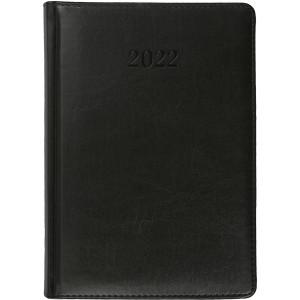 ELITE * A4 dzienny z registrem CZARNY kalendarz książkowy