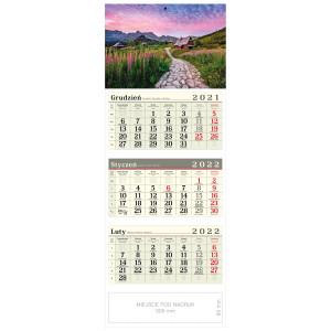 kalendarz trójdzielny - OŚNIEŻONE SZCZYTY