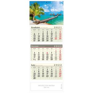 kalendarz trójdzielny - LETNI URLOP