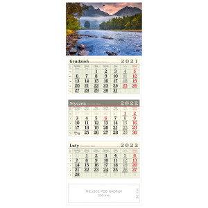 kalendarz trójdzielny - NAD DUNAJCEM