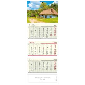 kalendarz trójdzielny - SIELSKA CHATA