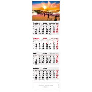 kalendarz czterodzielny - BAŁTYCKA PLAŻA