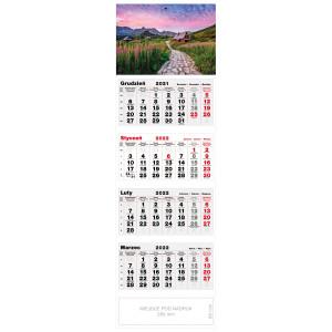 kalendarz czterodzielny - OŚNIEŻONE SZCZYTY