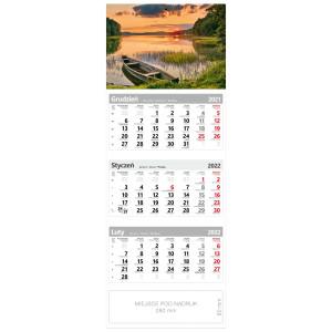 kalendarz trójdzielny - MAZURY