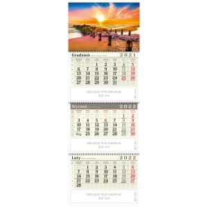 kalendarz trójdzielny - BAŁTYCKA PLAŻA