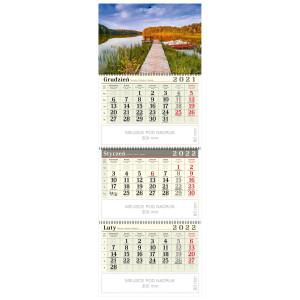 kalendarz trójdzielny - JESIENNE JEZIORO