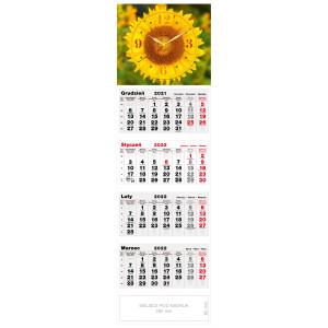 kalendarz czterodzielny - ZEGAR SŁONECZNIK