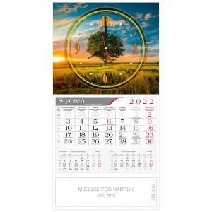 kalendarz jednodzielny - ZEGAR DRZEWO