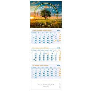 kalendarz trójdzielny - ZEGAR DRZEWO
