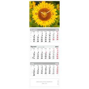 kalendarz trójdzielny - ZEGAR SŁONECZNIK