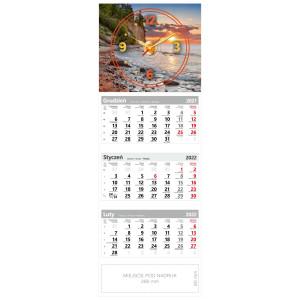 kalendarz trójdzielny - ZEGAR KLIF