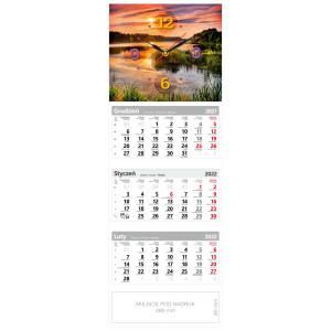 kalendarz trójdzielny - ZEGAR ZACHÓD SŁOŃCA