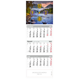 kalendarz trójdzielny - ZEGAR PIENINY