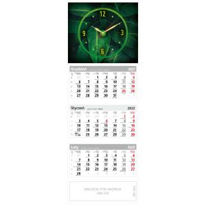 kalendarz trójdzielny - ZEGAR LIŚCIE