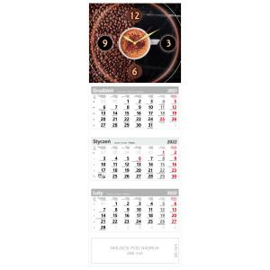 kalendarz trójdzielny - ZEGAR CZAS NA KAWĘ