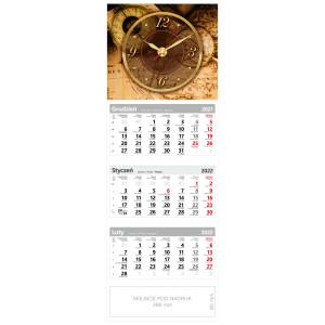 kalendarz trójdzielny - ZEGAR MAPA